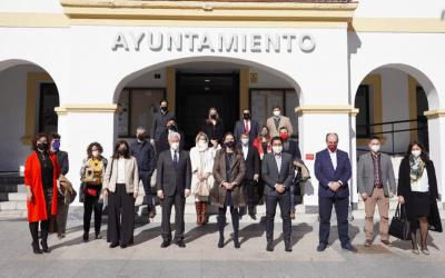 Encuentro de la ministra de Industria, Reyes Maroto, con los emprendedores de Sanse